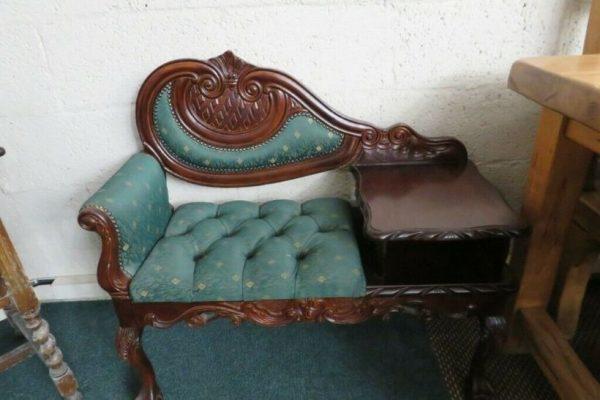 Ornate telephone table