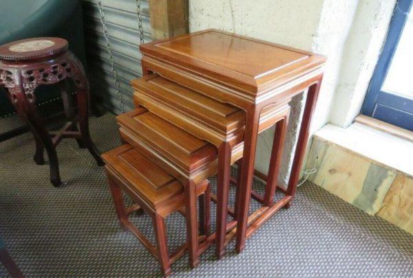 vintage walnut nest of tables